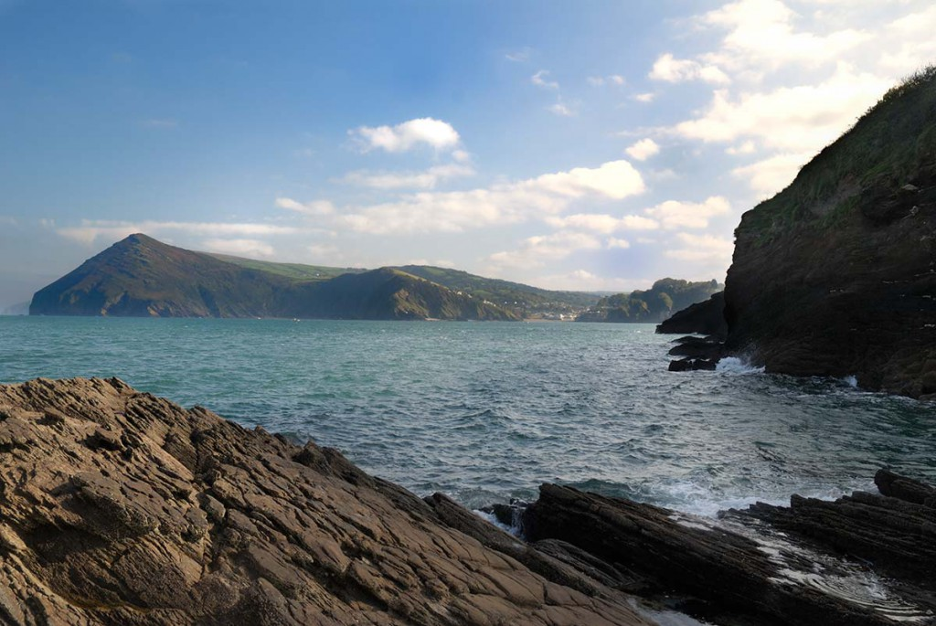 Combe Martin Bay seen from Broad Sands beach
